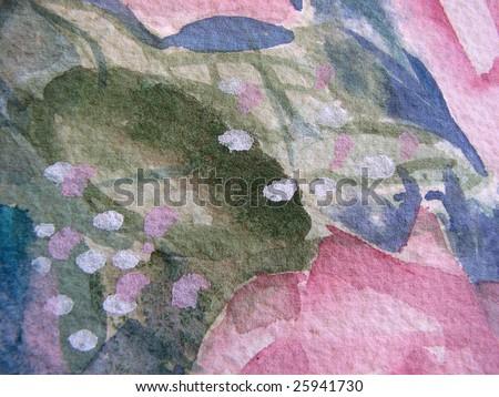Floral Watercolor in Macro - stock photo