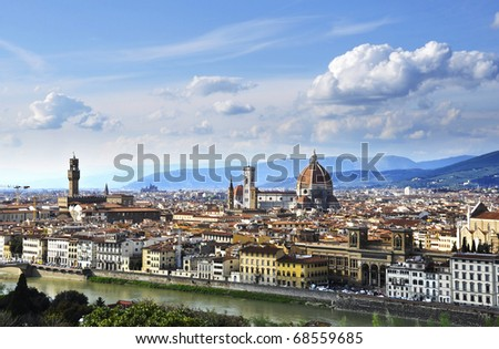 Florence, capital of Tuscany, Italy - stock photo