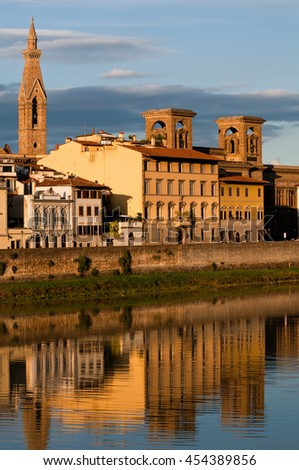 Florence city view in Autumn, Italy - stock photo