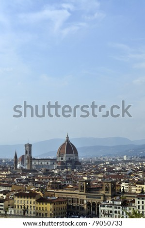 Florence cityscape and skyline, Italy - stock photo