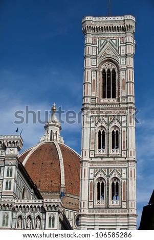 Florence - Duomo and Campanile - stock photo