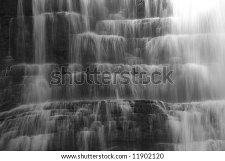 Florence Falls in Glacier National Park - stock photo