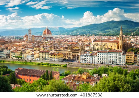 Florence (Firenze) cityscape, Italy. - stock photo