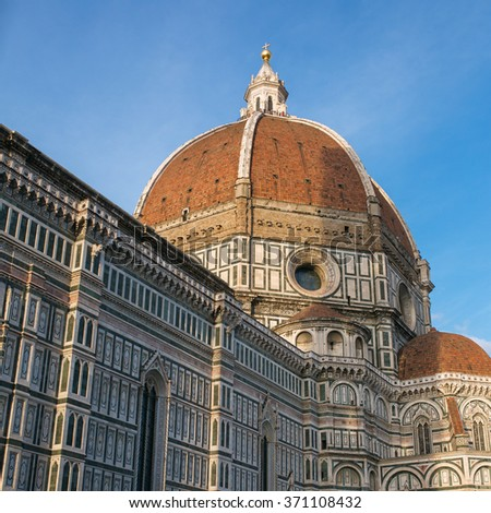 Florence (Firenze, Tuscany, Italy): Famous Santa Maria del Fiore cathedrall, Duomo by Brunelleschi