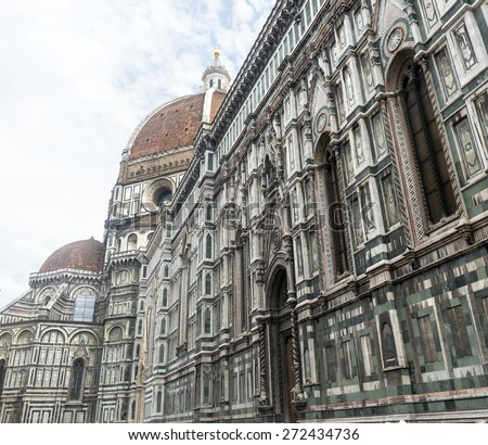 Florence (Firenze, Tuscany, Italy): the cathedral, a side