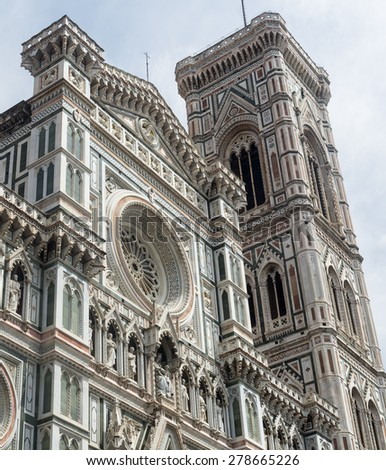 Florence (Firenze, Tuscany, Italy): the cathedral facade