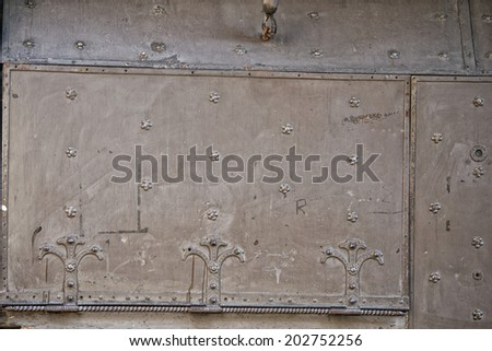 Florence Ponte Vecchio Jewelry iron door - stock photo