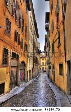Florence Street (HDR photo) - stock photo
