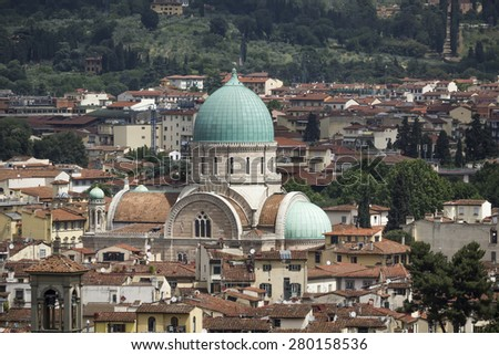Florence, Synagogue and Museum of Hebraic Art and Culture, Tuscany, Italy - stock photo
