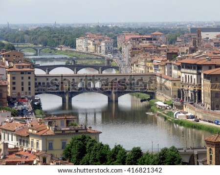Florence view - stock photo