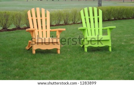 Florescent Wooden Lawn Chairs
