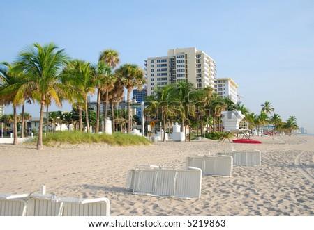 Florida beach coastline - stock photo