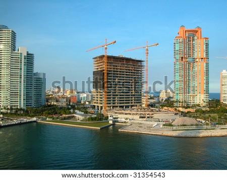Florida Coast Construction Site - stock photo