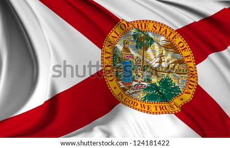 Florida flag - USA state flags collection no_3 - stock photo