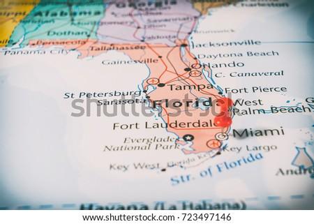 Florida Map Stock Images RoyaltyFree Images Vectors Shutterstock - Fort pierce florida map