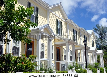 Florida Style Beach Houses - stock photo