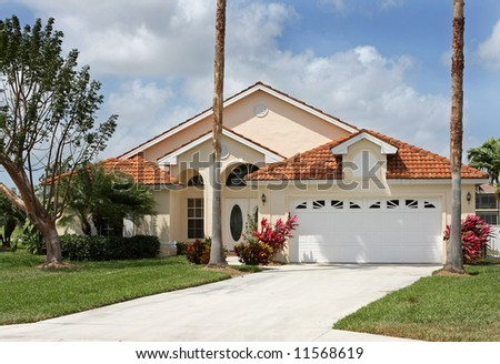 Florida vacation house - stock photo