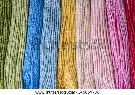 Floss thread for embroidery - stock photo