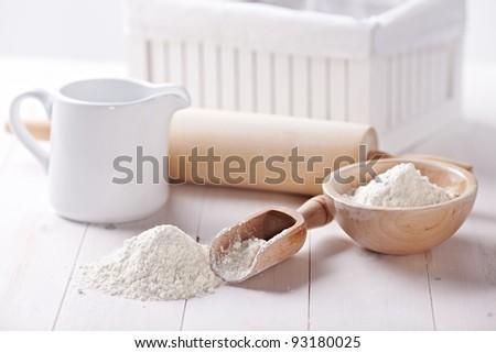 flour - stock photo