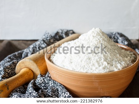 flour for bake - stock photo