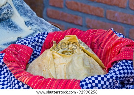 Flour tortillas. - stock photo