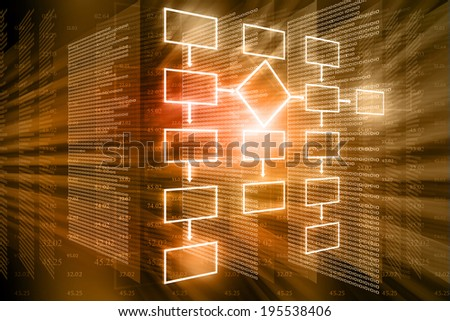 flow chart background  - stock photo
