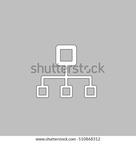 network block diagram red outline vector stock vector 326654699 flow chart white icon on grey background flat symbol