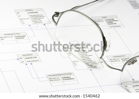 Flow Diagram Software Development Stock Photo Royalty Free 1540462
