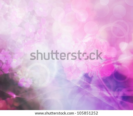 Flower Abstract Background - stock photo