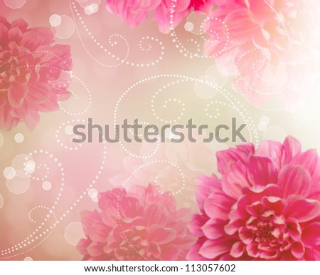 Flower Abstract Design Art Background