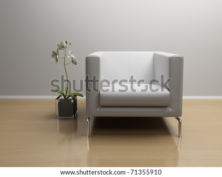 flower and chair