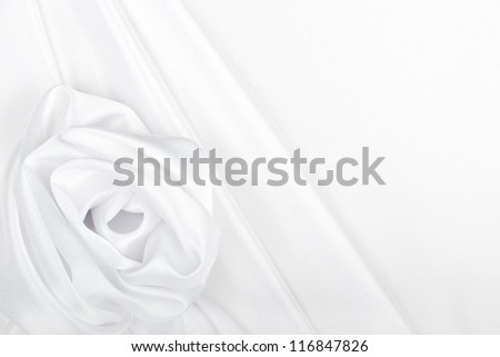 Flower and drapery made of fabric - stock photo