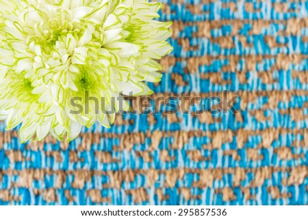 Flower and textile texture for background  - stock photo