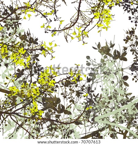 Flower Art Digital Painting Background - stock photo