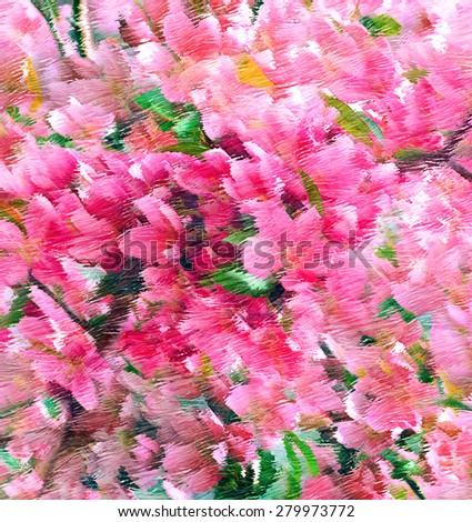 flower background.digital painting - stock photo
