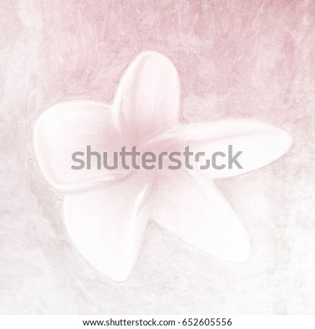 Flower background in soft pink watercolor