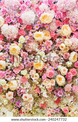 flower bouquets , bunch of flowers - stock photo