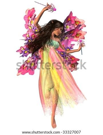 Flower Carnival Fairy - stock photo