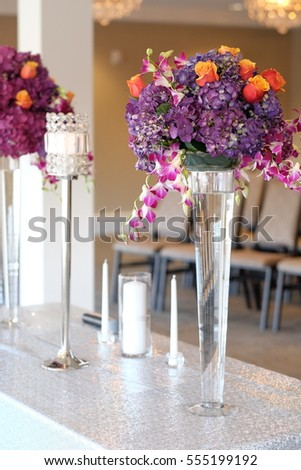 Flower center pieces for wedding decorations