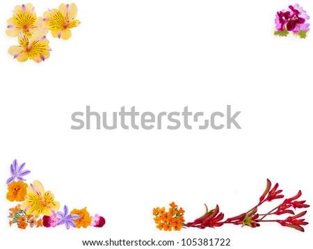 Flower Garden Border - stock photo