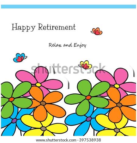 flower garden happy retirement stock illustration 397538938 rh shutterstock com happy retirement banner clip art