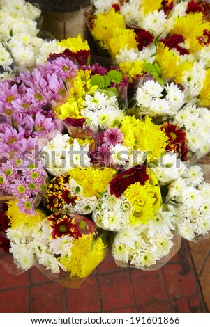 flower in shop in thailand - stock photo