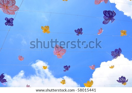 flower in the sky - stock photo
