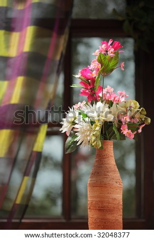 flower in the vase - stock photo