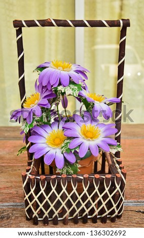 flower in vase - stock photo
