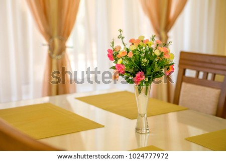 Flower Vase On Table Window Sill Stock Photo Royalty Free