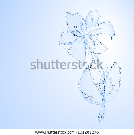 flower made of water. see more on my page - stock photo