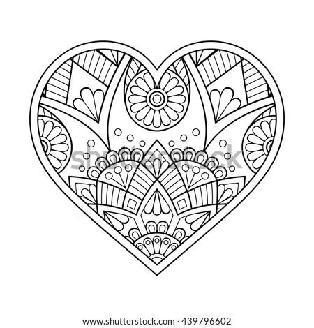 heart floral mandala vintage decorative elements stock vector 386859733 shutterstock. Black Bedroom Furniture Sets. Home Design Ideas