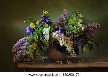 Flower mix - stock photo