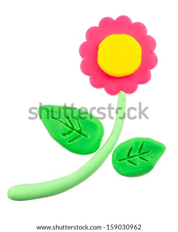 Flower modelling clay - stock photo